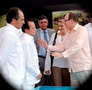 Prince Albert of Monaco claims not to know the man he is talking to in this picture!